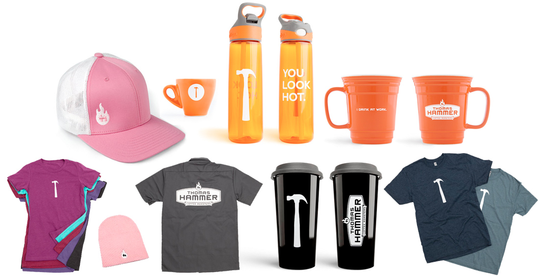 Thomas Hammer Branded Merchandise - T-Shirts, Hats, Mugs & Water Bottles