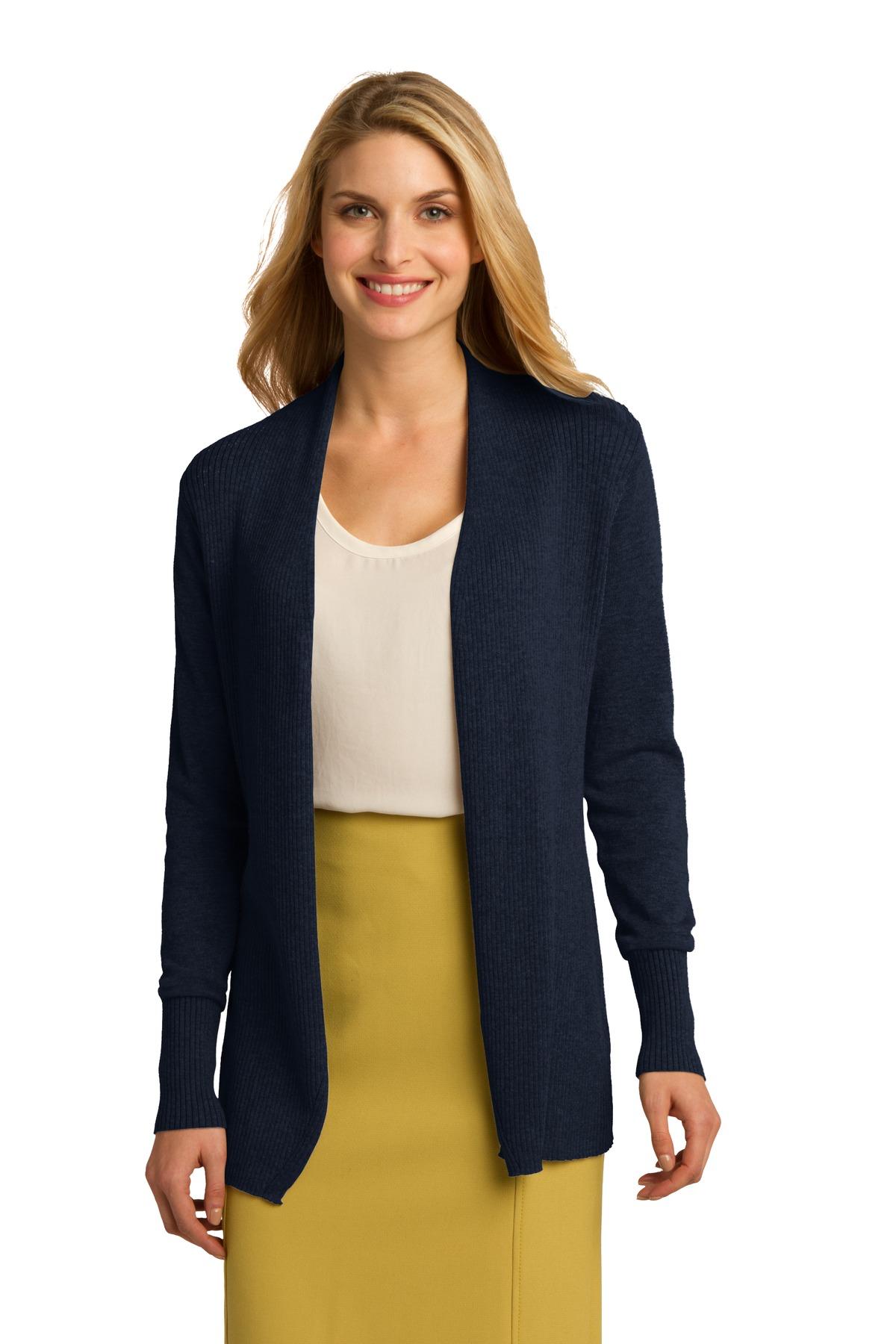 0c635183c Port Authority® Ladies Open Front Cardigan Sweater. LSW289 - Zome Design
